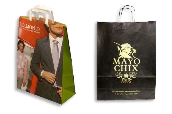 papírové tašky s firemním logem
