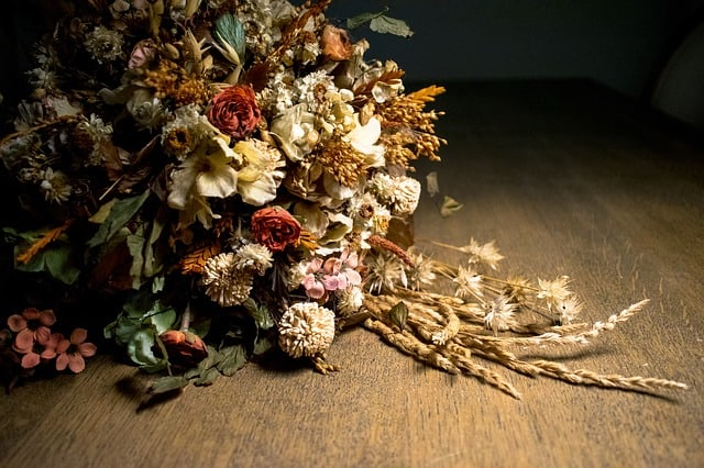 sušené květiny